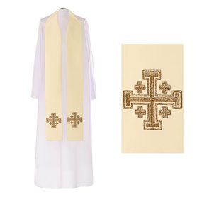 Priest Stole with Jerusalem Cross symbol design