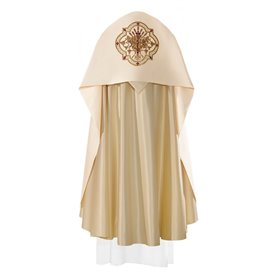 Humeral Veil with rich JHS symbol on satin fabric