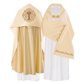 Humeral Veil with Chalice design on satin fabric