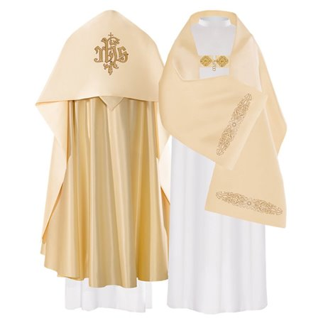 Humeral Veil with JHS design on satin fabric
