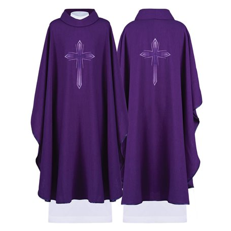 Chasuble in special Irina fabric with Cross design