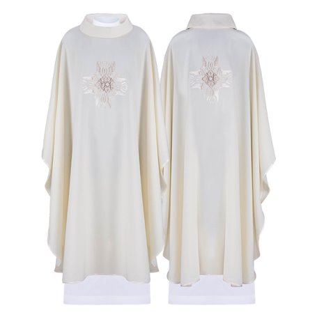 Chasuble Vestment with stylish gold Cross design