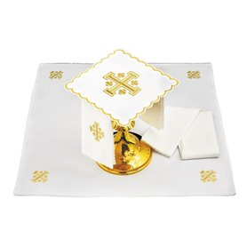 Mass Altar Linens set with Jerusalem Cross design