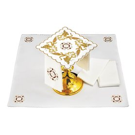 Mass Altar Linens set with Grapevine & Wheat design