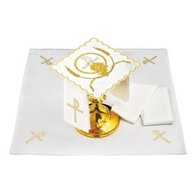 Mass Altar Linens set with Chi Rho & Grapevine design