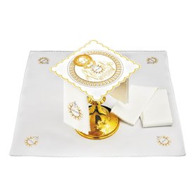 Mass Altar Linens set with Jesus Christ design