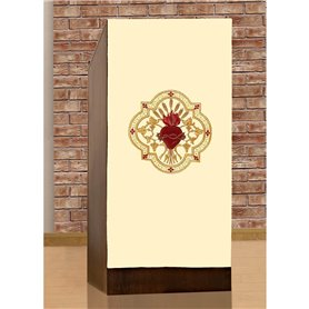 Lectern Cover with Sacred Heart of Christ design