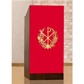 Lectern Cover with Chi Rho, Wheat & Grapevine