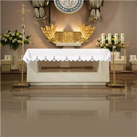 Altar Tablecloth with Marian symbol design
