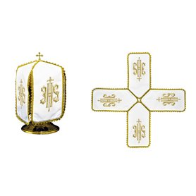 Ciborium Veil with JHS & Cross Symbol design
