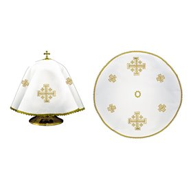 Ciborium Veil with Jerusalem Cross symbol design