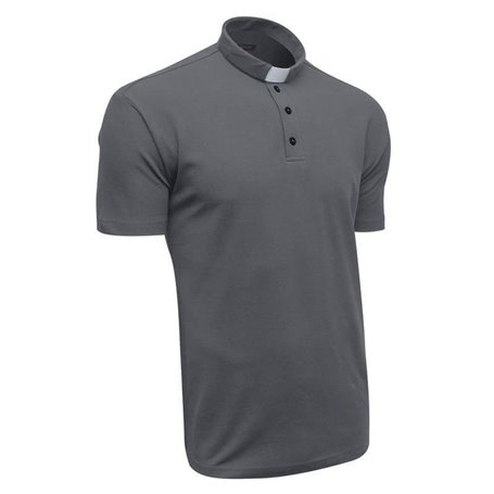 Graphite Black Clerical Polo Shirt 100% Cotton Short Sleeve - Lacoste - Classic Fit