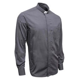 Graphite Black Clerical Shirt 80% Cotton Long Sleeve - Fil-A-Fil - Classic Fit