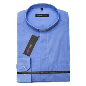 Blue Clerical Shirt 80% Cotton Long Sleeve - Fil-A-Fil - Classic Fit