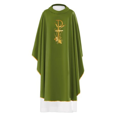 Chasuble with Chi Rho, Cross and Grapevine