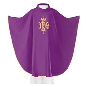 Chasuble Vestment with Gold JHS Symbol design