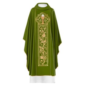 Chasuble with Chalice & Host on embroidered banding