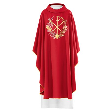 Chasuble with Chi Rho, Wheat & Greapvine design